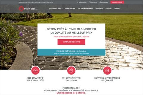 Lancement de la plateforme FirstBeton.com, actualité du Groupe Pigeon