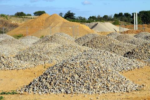 Le granulat, élément-clé de la construction et des travaux publics, actualité du Groupe Pigeon